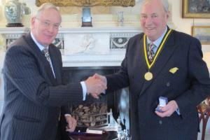 The Duke of Gloucester and Dr Dick Reid