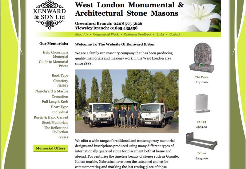 Kenward & Son website