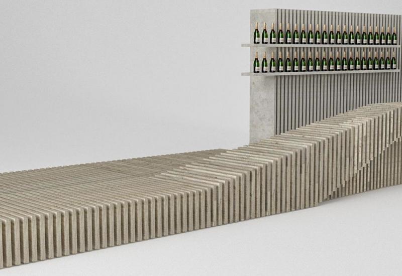Geometric Wave Wine Bar