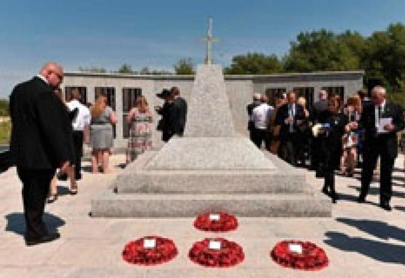 The Bastion Memorial to the fallen service personnel in Afghanistan, made by R Pascoe & Sons and installed by Young Johnson.