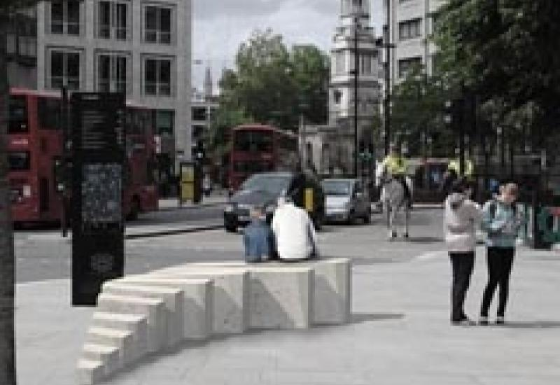 The new Portland stone bench that is being unveiled on 24 October.