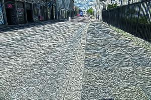 Natural stone pavements