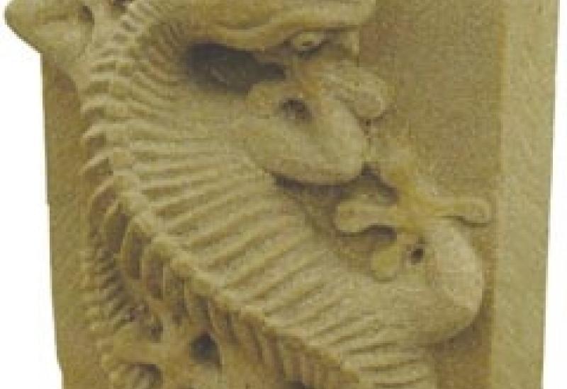 Saul Sheldon's winning Salamander carving from last year's festival at Ludlow.