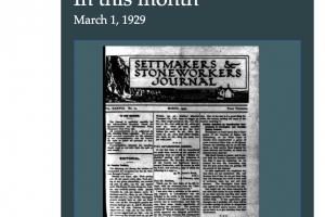 The Settmakers & Stoneworkers Journal can now be viewed online
