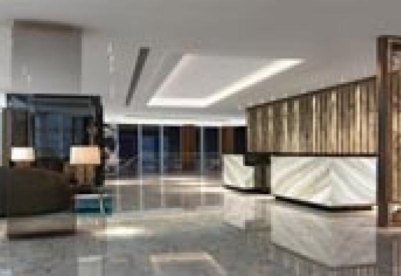 Carrières Plo's Versailles marble at the Shangri-La hotel at The Shard in London.