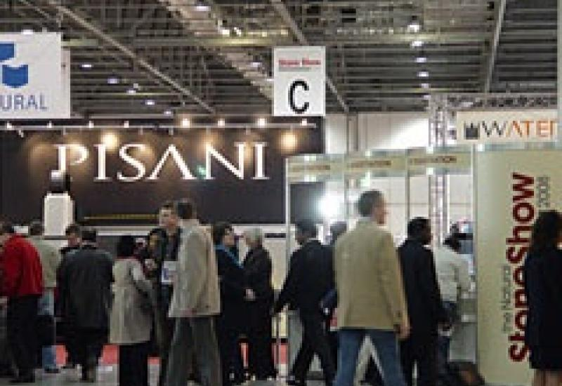 A scene from the previous Natural Stone Show at ExCeL London.