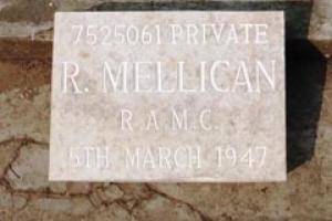 Commemorating Private Mellican 68 years after his death in Burma.