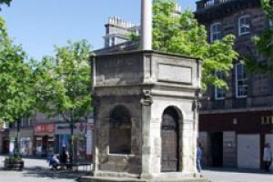 The Muckle Cross in Elgin that is to get a £55,000 facelift.