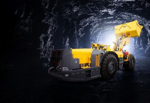 Epiroc's Scooptram ST14 Battery underground loader