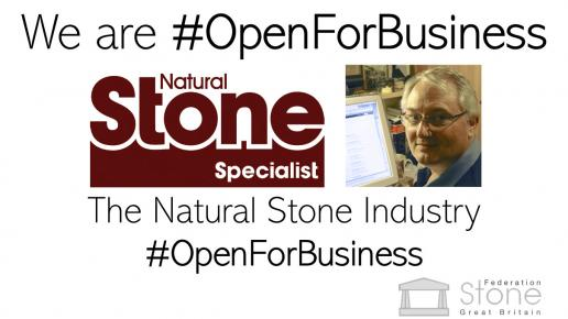 the stone industry is #OpenForBusiness