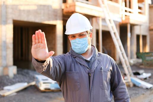 Masks on construction sites