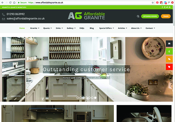 Affordable Granite Website
